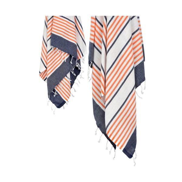 Zestaw 2 ręczników hammam HF Living Tart