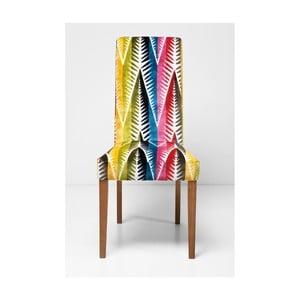 Tapicerowane krzesło do jadalni Kare Design Econo Slim Palm Leaf