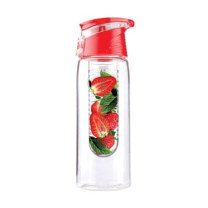 Czerwona butelka Asobu Flavour It 2 Go, 600 ml