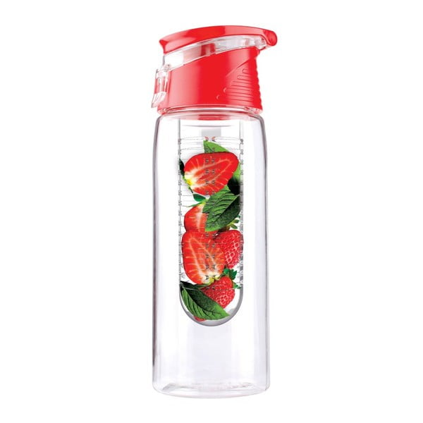 Czerwona butelka Asobu Flavour It 2 Go, 600 ml