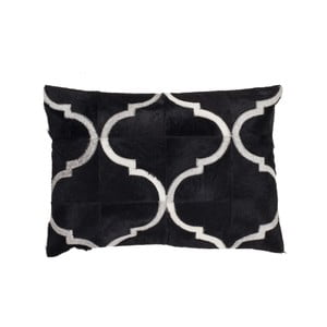 Poduszka skórzana Eclipse Black, 40x60 cm