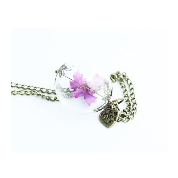 Naszyjnik Glassball and Bronze Flowers