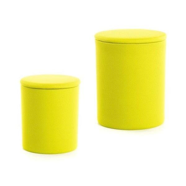 Zestaw 2 stołków The Drum Lime Punch