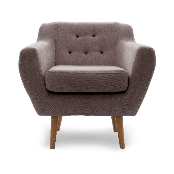 Fotel VIVONITA Kelly Light Brown, naturalne nogi