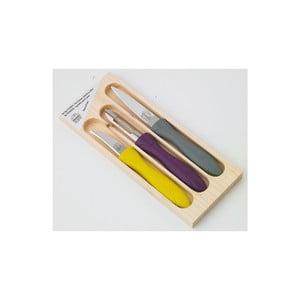 Zestaw 2 noży i obieraczki w drewnianym pojemniku Jean Dubost