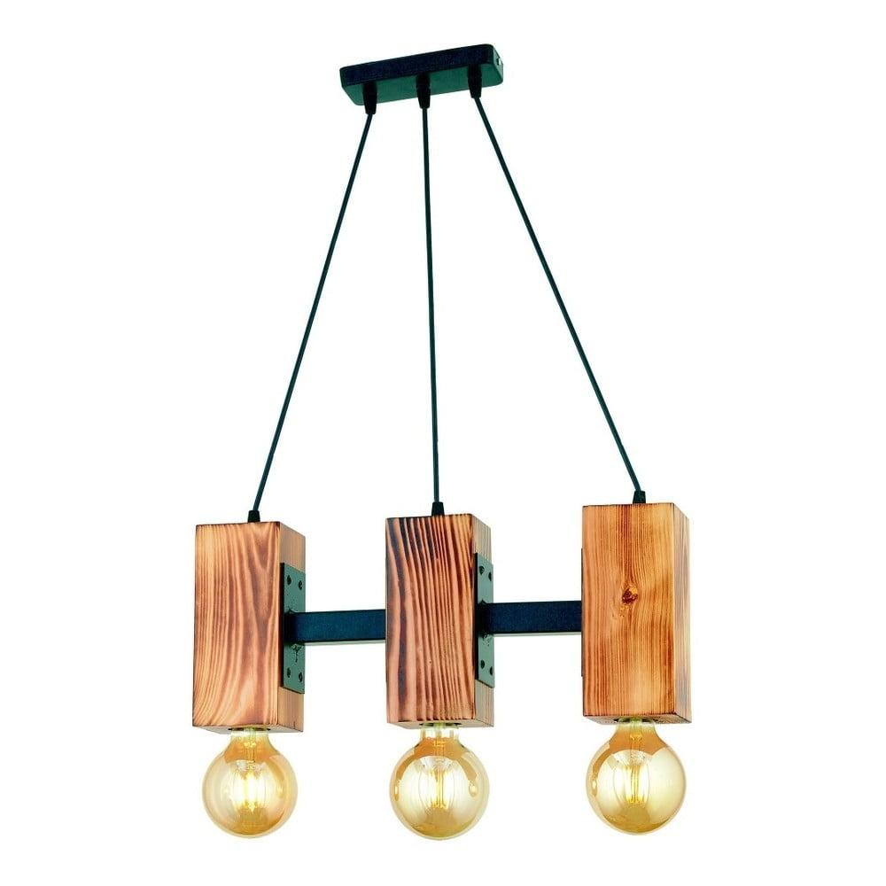 Lampa wisząca z drewna grabu Carina Tres