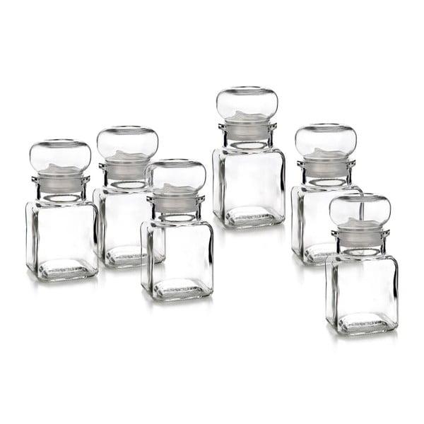 Zestaw pojemników na przyprawy Glass, 6 szt.