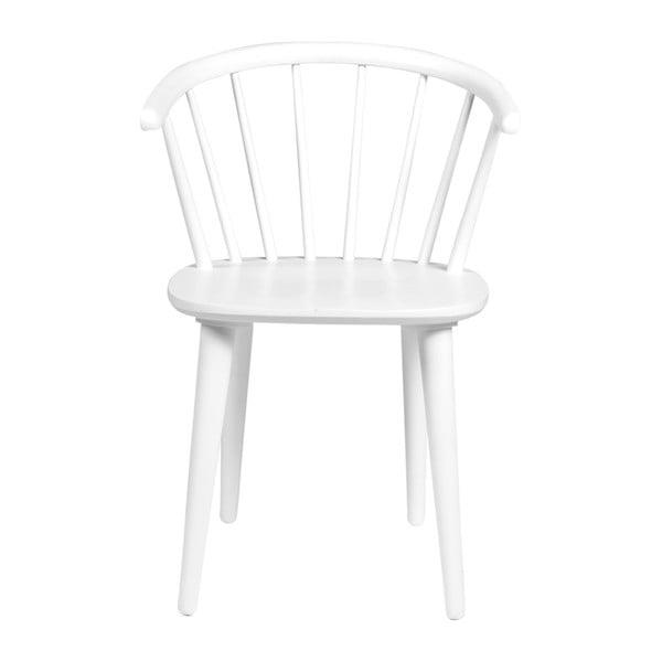 Białe krzesło do jadalni z drewna kauczukowca Rowico Carmen