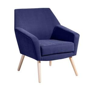 Niebieski fotel Max Winzer Alegro Velor