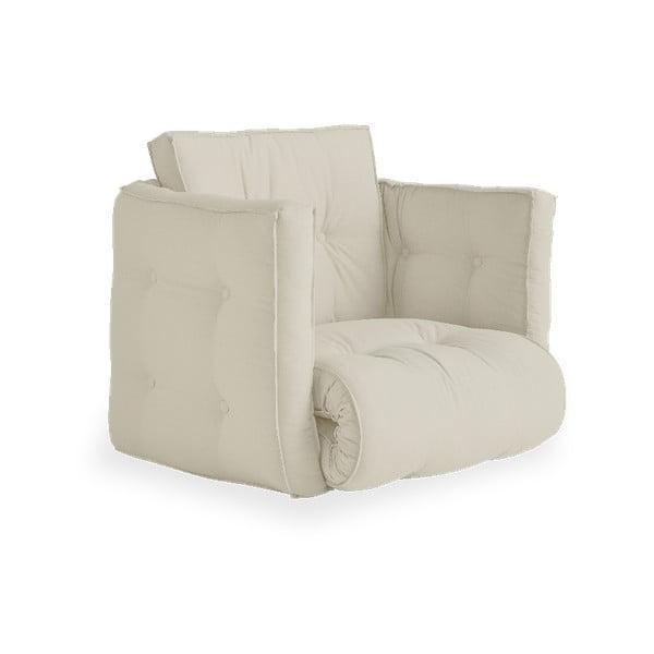 Rozkładany fotel z beżowym obiciem Karup Design Dice Beige