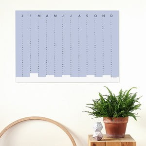 Kalendarz ścienny SNUG.Column, niebieski