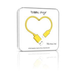 Kabel do ładowania i transmisji danych Happy Plugs 2 m, żółty