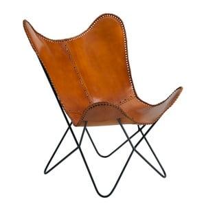 Jasnobrązowy fotel skórzany Fuhrhome Amazon