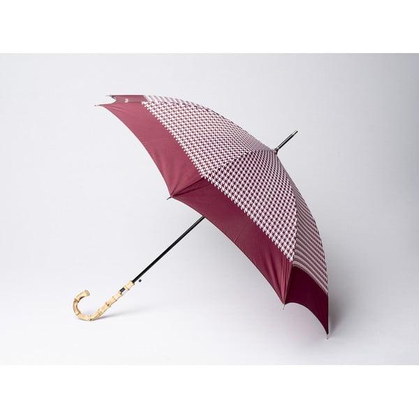 Parasol Houndstooth, bordowy