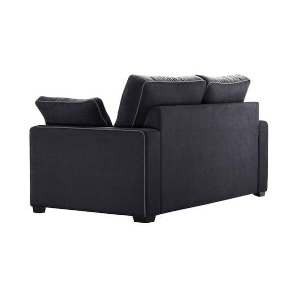 Sofa dwuosobowa Jalouse Maison Serena, czarna