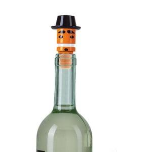 Pomarańczowy korek do butelki od wina e-my Mr. Porkpie