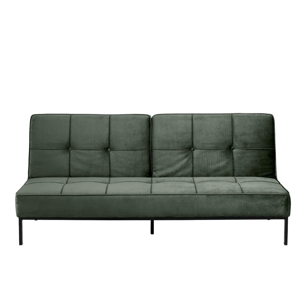 Zielona sofa rozkładana Actona Perugia