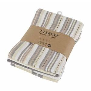 Komplet 5 brązowych bawełnianych ścierek Tiseco Home Studio, 50x70 cm