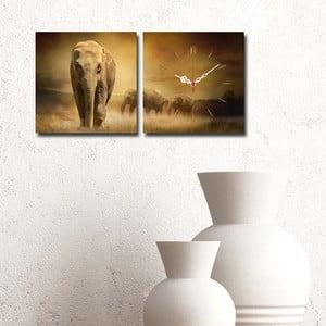 Obraz z zegarem Safari