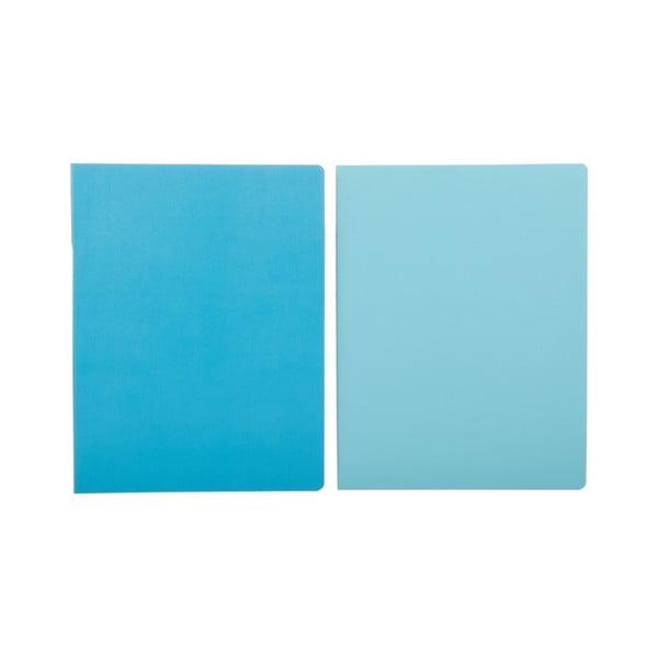 Niebieski notatnik w linie Moleskine Volant, bardzo duży
