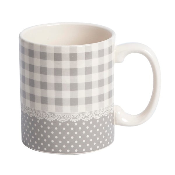 Kubek Grey Dots&Checks