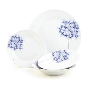 Zestaw porcelanowy Hydrangea, 12 szt.