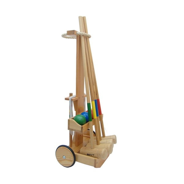 Zestaw do krykieta Crocquet Original z wózkiem