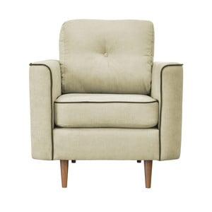 Kremowy fotel z jasnymi nogami Mazzini Sofas Butterfly