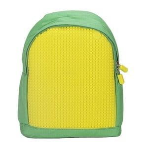 Plecak dziecięcy Pixelbag, zielony/żółty