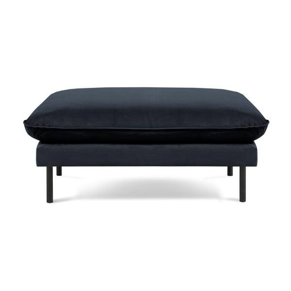 Ciemnoniebieski podnóżek Cosmopolitan Design Vienna, 100x80 cm