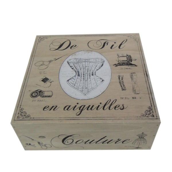 Pudełko na przybory do szycia Antic Line De Fil
