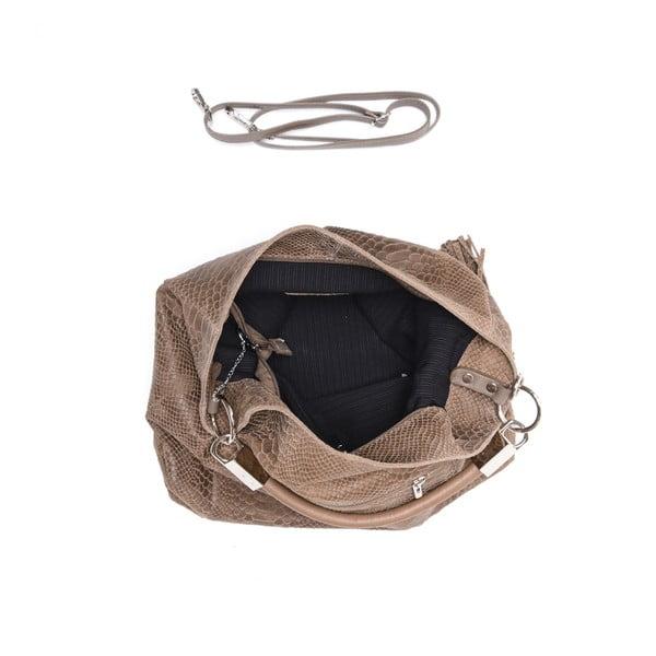 Skórzana torebka Carla Ferreri 889 Fango