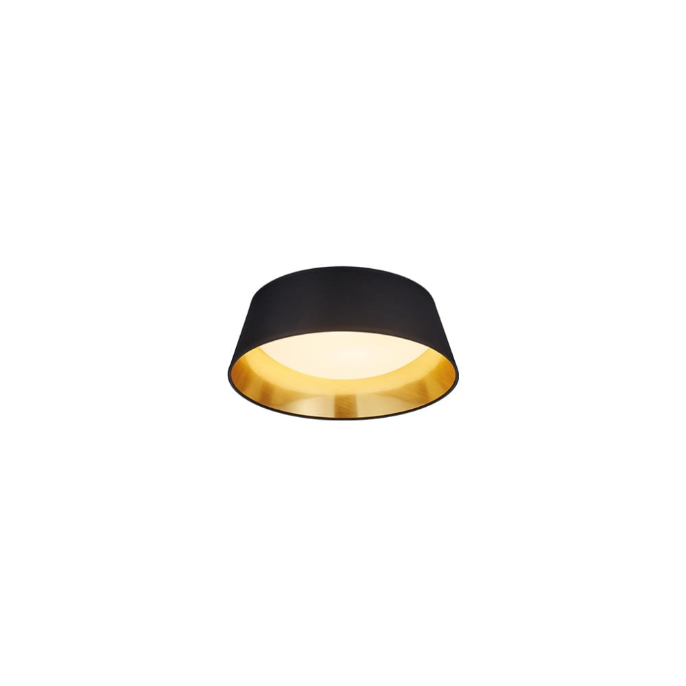 Czarna lampa sufitowa LED Trio Ponts, średnica 34 cm