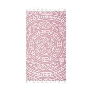 Różowy ręcznik hammam Kate Louise Mirabelle, 165x100 cm