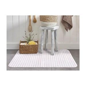 Biało-różowy dywanik łazienkowy Stripy, 70x110cm