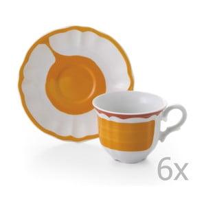 Zestaw 6 filiżanek z podstawką Giotto Orange