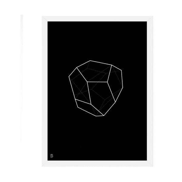Plakat Emerald Geometric Black, 50x70 cm