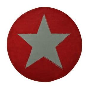 Dywan City & Mix - okrągły czerwony, 140 cm