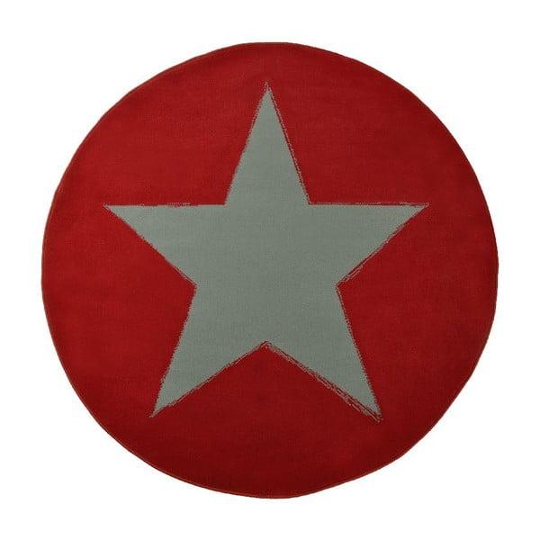 Czerwony dywan dziecięcy Hanse Home Star, ⌀140cm