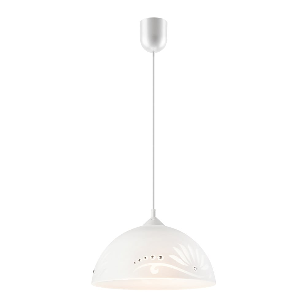 Biała lampa wisząca Lamkur Meadow