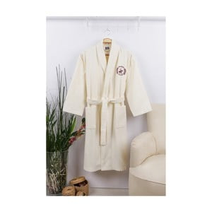 Szlafrok unisex w kremowym kolorze Beverly Hills Polo Club, rozmiar L/XL