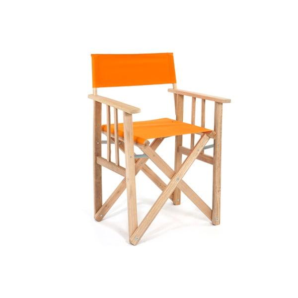 Składane krzesło Director, pomarańczowe
