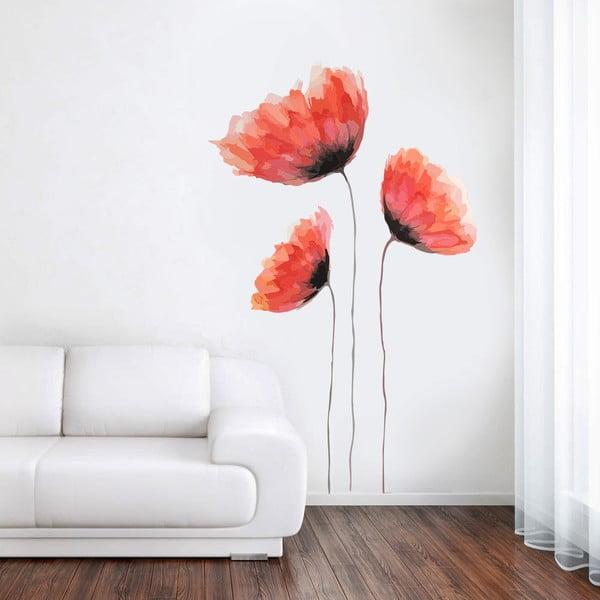 Naklejka Kolorowy mak, 70x50 cm