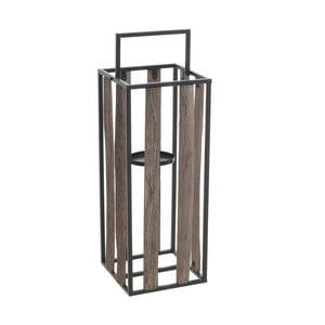 Lampion z elementami z drewna jodłowego InArt, wys.50cm