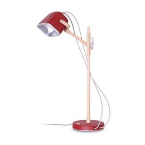 Lampa stołowa Mob Wood, czerwona