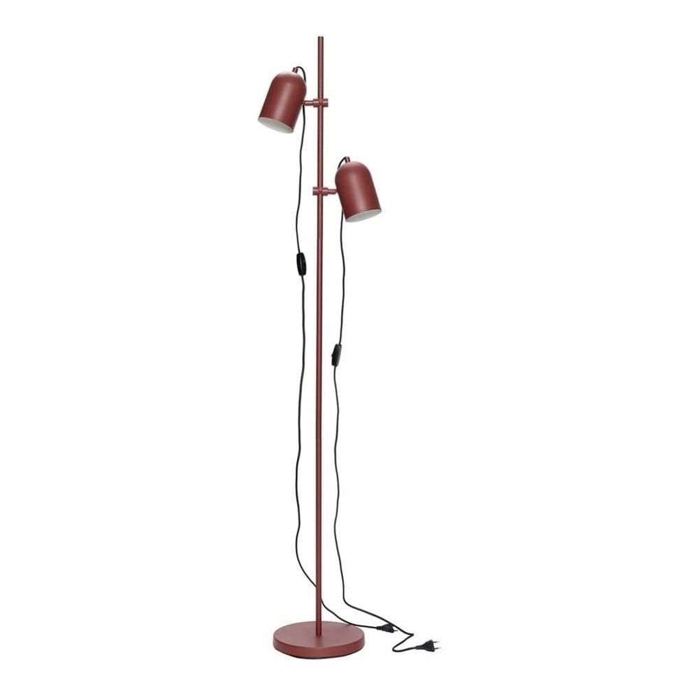 Czerwona lampa stojąca Hübsch Firo