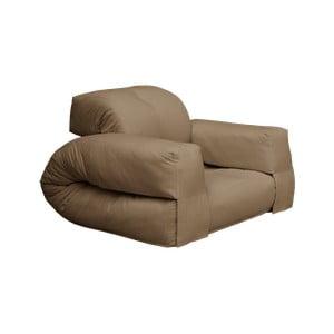 Rozkładany fotel z brązowym obiciem Karup Design Hippo Mocca