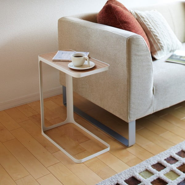 Biały stolik boczny Yamazaki Frame