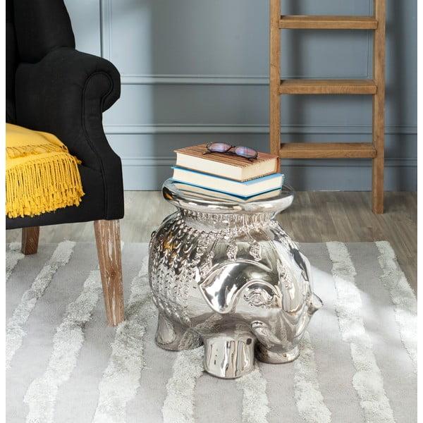 Stolik ceramiczny Capri, srebrny