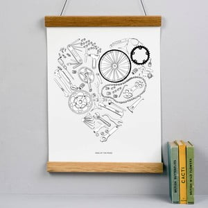 Plakat Bicycle Print, 30x40 cm